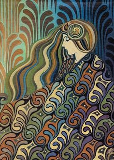 """Dalia Lithuanian Goddess of Fate"" by Emily Balivet"