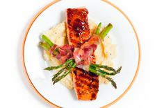 Red Pepper Glazed Salmon from   foodfigure.squarespace.com
