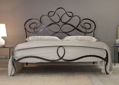 King Size Wrought Iron Wood Post Bed Frames Wrought iron beds