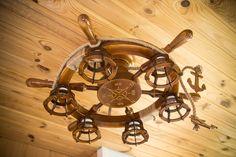 Nautical Chandelier, Wooden Chandelier, Chandelier Ceiling Lights, Ceiling Lamp, Wooden Ceilings, Nautical Fashion, Lighting Solutions, Light Fixtures, Bulb