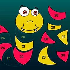 Zabawa w układanie obrazka dopasowując cyfry i liczby