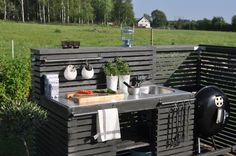 If you are looking for Simple Outdoor Kitchen, You come to the right place. Here are the Simple Outdoor Kitchen. This post about Simple Outdoor Kitchen was posted u. Outdoor Kitchen Sink, Simple Outdoor Kitchen, Rustic Outdoor Kitchens, Outdoor Kitchen Countertops, Backyard Kitchen, Summer Kitchen, Outdoor Kitchen Design, Diy Outdoor Furniture, Outdoor Decor