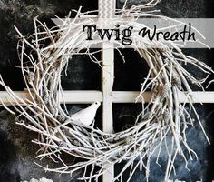 Want a winter DIY project to spruce up your home's decor? This white twig wreath project is easy to assemble and adds character to any room. Stick Wreath, Twig Wreath, White Wreath, Small Wreath, Holiday Crafts, Christmas Wreaths, Christmas Crafts, Christmas Decorations, Burlap Door Decorations