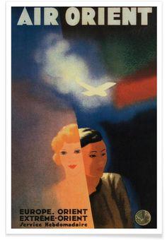 Air Orient als Premium Poster door Vintage Art Archive   JUNIQE