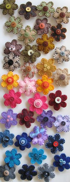 I made more than 50 felt flower barrettes this week, including all different colors and a bunch of new variations.  More about my felt barrettes and other craft projects on my blog: pickychickybird.blogspot.com