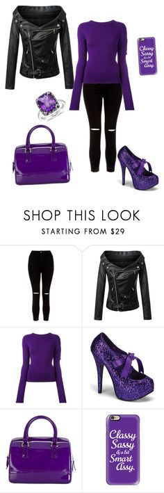 """""""Purple"""" by sara-granade-fernandez ❤ liked on Polyvore featuring New Look, Chicnova Fashion, Jacquemus, Bordello, Furla and Casetify"""
