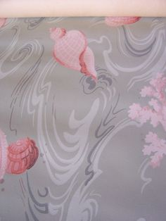 SALE Vintage Wallpaper c1940s Seashells Coral Summer by FSBstudio, $7.99