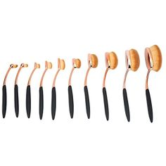 niceEshop(TM) 10 Pcs New Fashionable Soft Oval Multipupose Toothbrush Makeup Brush Foundation Brushes >>> Check out this great product. (This is an affiliate link and I receive a commission for the sales) #FaceMakeupBrushes