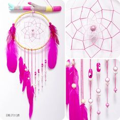 attrape_reve_rose_fluo_decoration_chambre_enfant