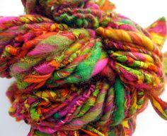Summer of Love handspun art yarn by coolclimates @Etsy