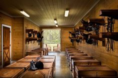 Tack Room Horse Barn Pretty cool saddle racks