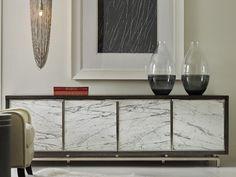 Hooker Furniture Melange Dark Wood 88''L x 21''W Rectangular Sora Credenza Buffet