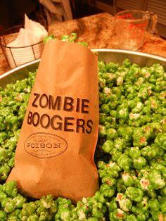 Zombie boogers hahaha boogers & brains!!!!