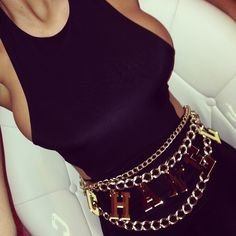 @couturechronicles vintage Chanel inspired chain belt