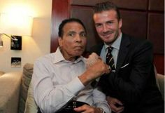 Muhammed Ali  David Beckham. Sport Icons.