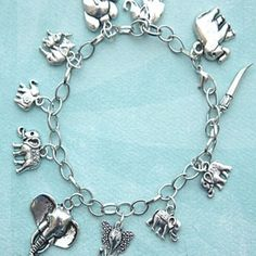 23. #Elephant Charm #Bracelet - 35 Things to Show off Your Love of #Elephants ... → #Lifestyle #Print