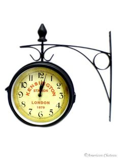 london train station double sided 2sided bistro clock american chateau http