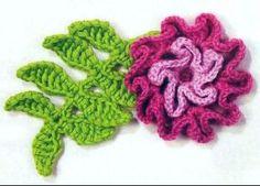 Вязаные крючком листья. Часть 3. Вязание крючком.