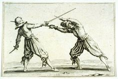 "Le Duel a L'Epee et au Poignard, plate 18 from ""Les Caprices"" Artist: Jacques Callot Date: 1617 Location: Not on display Century: 17th Century AD Media: Etching Dimensions: Image: 55 x 81 mm (2 3/16 x 3 3/16 in.)"