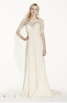 Cap Sleeve Tulle Sheath with Lace Applique Style WG3769   THE Dress     Cap Sleeve Tulle Sheath with Lace Applique Style WG3769   THE Dress    Pinterest   Illusion neckline  Tulle dress and Lace applique