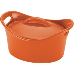 Shop for Rachael Ray Orange Stoneware Mini Oval Casserole Dish. Get free delivery On EVERYTHING* Overstock - Your Online Kitchen & Dining Outlet Store! Casserole Pan, Casserole Dishes, Ceramic Bakeware, Stoneware, Yummy Treats, Yummy Food, Rachel Ray, Kitchen Collection, Pottery Bowls