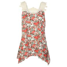 Adiktd Womens Sleeveless Lace and Floral Blouse from Boot Barn. Oooo! This is pretty!
