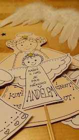 Lidka F: DIY - Každý jsme pro někoho andělem... Merry Christmas And Happy New Year, Christmas Art, Christmas Decorations, Handmade Crafts, Diy And Crafts, Paper Crafts, Christmas Activities For Kids, Angel Crafts, Crafts For Kids To Make