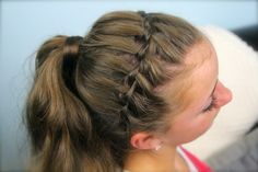 Braided headband into a ponytail from cute girls hairstyles