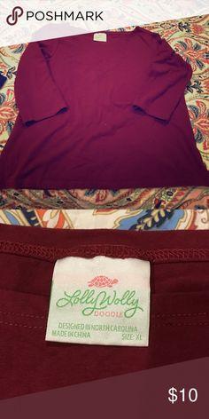 So soft LWD 3/4 length boat neck shirt! So soft LWD 3/4 length boat neck shirt! lolly wolly doodle Tops Tees - Long Sleeve