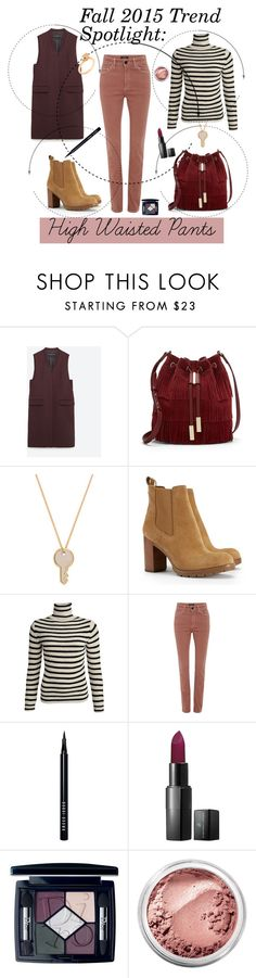 """""""Fall 2015 Trend Spotlight: High Waisted Pants"""" by maggiesinthemoon ❤ liked on Polyvore featuring Zara, Vince Camuto, Marc by Marc Jacobs, Tory Burch, Isabel Marant, Bobbi Brown Cosmetics, Vincent Longo, Christian Dior and Bare Escentuals"""