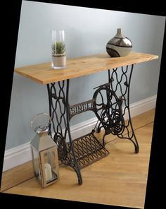 Sewing Machine Table made from a vintage cast-iron Singer