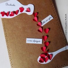 Express your love with the cutest Valentines Day card ideas presented here. Here you'll find over 40 easy & adorable DIY Valentines Day Cards for him. Handmade Birthday Cards, Diy Birthday, Valentine Crafts, Valentine Day Cards, Diy Crafts For Gifts, Paper Crafts, Best Valentine's Day Gifts, Ideias Diy, Get Well Cards