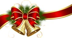 Transparent Christmas Bells with Red Bow Clipart   Gallery Yopriceville - High-Quality Images and Transparent PNG Free Clipart