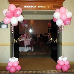 Balloon Topiaries For Entrance & Tables Photo:  This Photo was uploaded by celebrationsdelite. Find other Balloon Topiaries For Entrance & Tables... Balloon Topiary, Balloon Tower, Balloon Stands, Balloon Centerpieces, Balloon Columns, Air Balloon, Farewell Decorations, Dance Decorations, 90th Birthday Parties