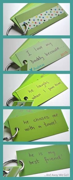 Father's Day Keychain from paint chip samples ~ Easy DIY Father's Day Gifts
