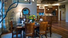 Dining room. Rustic style.