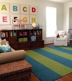 good mix of kid space/adult space