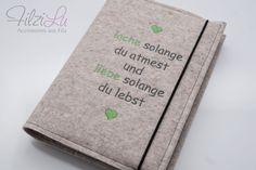 Kalender Hülle ♥ Filzumschlag von FilziLu®  - schönes aus Filz auf DaWanda.com