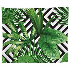 Palms Over Diamonds Tapestry