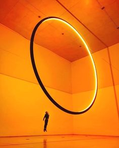 Repost from - immersive installation by at the red brick art museum in a large ring seems to… Disco Licht, Studio Olafur Eliasson, Modern Art, Contemporary Art, Art Cube, Instalation Art, Brick Art, China Art, Red Bricks