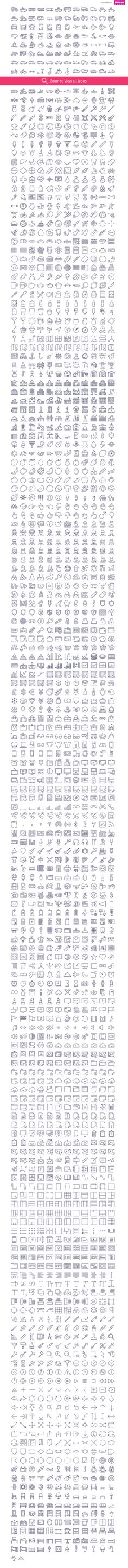 2090 icons in UniGrid set by Icojam on Creative Market. icojam, stroke, outline…