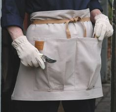 Washable Good Quality Cotton Drill Gardening Apron. Two Huge Pockets For  Tools,gloves And