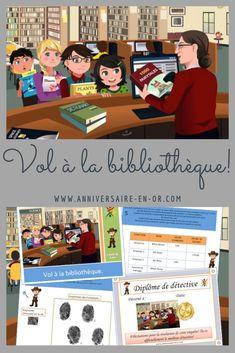 Game kit for police investigation for children's birthday animation! Library Scavenger Hunts, Cluedo, Animation, Investigations, Congratulations, Mystery, Kit, Games, Children