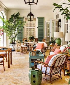A Caribbean-Style Home In Hobe Sound Honors The Past — Luxe Interiors + Design Outdoor Rooms, Outdoor Living, Outdoor Furniture Sets, Outdoor Decor, Fresco, Gazebo, Pergola, Interior Decorating, Interior Design