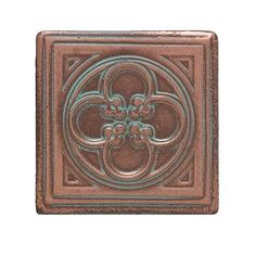 Check out this Daltile product: Castle Metals Aged Copper Clover Dot CM01