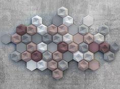 3D Wall Tile EDGY by KAZA Concrete design Patrycja Domanska, Tanja Lightfoot