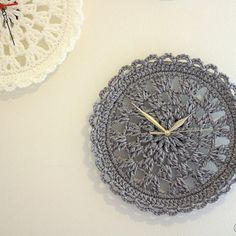 Crocheted Clock Face.