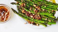 Charred Asparagus with Citrus Bagna Cauda Recipe | Bon Appetit