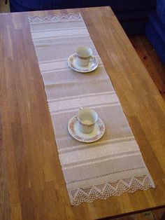 This handwoven table runner is hand made from natural gray and white linen with linen laces.Great vintage style decoration on your table in the country house, or terrace. Perfect for all occasions to add stylish eco-chic to your cofee table.  Size: 35x110cm or 14'' x 44''  If you require other size, or more then one pcs., please email antrali@inbox.lv  Handmade in Latvia | Shop this product here: spreesy.com/LatviaLinen/17 | Shop all of our products at http://spreesy.com/LatviaLinen…
