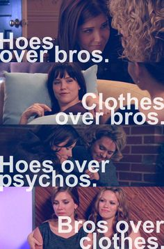 "The evolution of ""hoes over bros."""